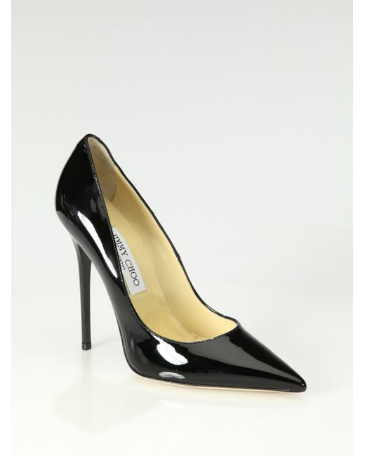 Jimmy Choo | Black Anouk Patent Leather Pump | Lyst
