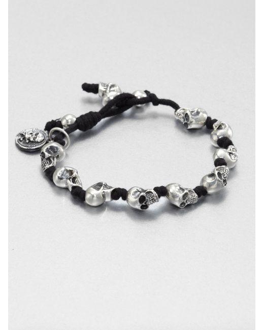 King Baby Studio | Metallic Knotted Cord Bracelet | Lyst