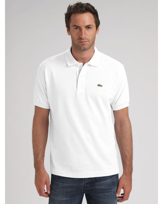 Lacoste | Lacoste Basic Pique Polo Shirt, White for Men | Lyst