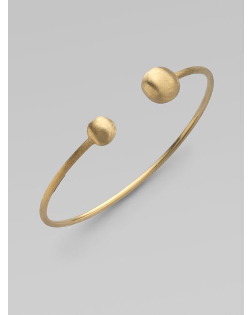 Marco Bicego | Metallic 18k Yellow Gold Open Closure Bracelet | Lyst