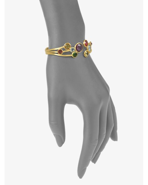 Marco Bicego | Metallic 18k Yellow Gold Semiprecious Multistone Cuff Bracelet | Lyst
