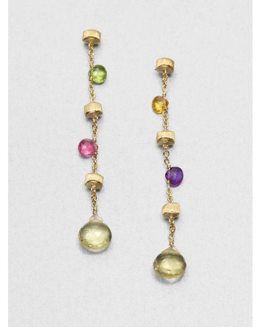 Marco Bicego | Multicolor Paradise Semi-precious Multi-stone & 18k Yellow Gold Drop Earrings | Lyst