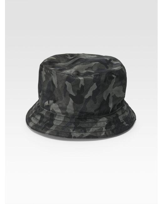 Prada | Gray Tessuto Nylon Bucket Hat for Men | Lyst