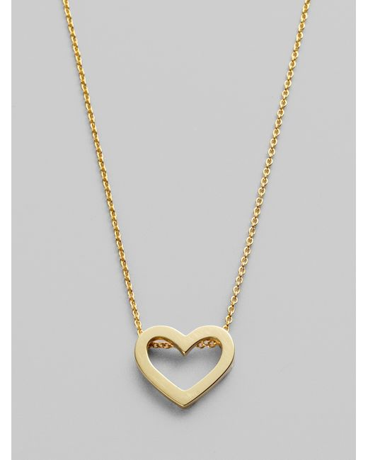 Roberto Coin | Metallic Tiny Treasures 18k Yellow Gold Heart Pendant Necklace | Lyst