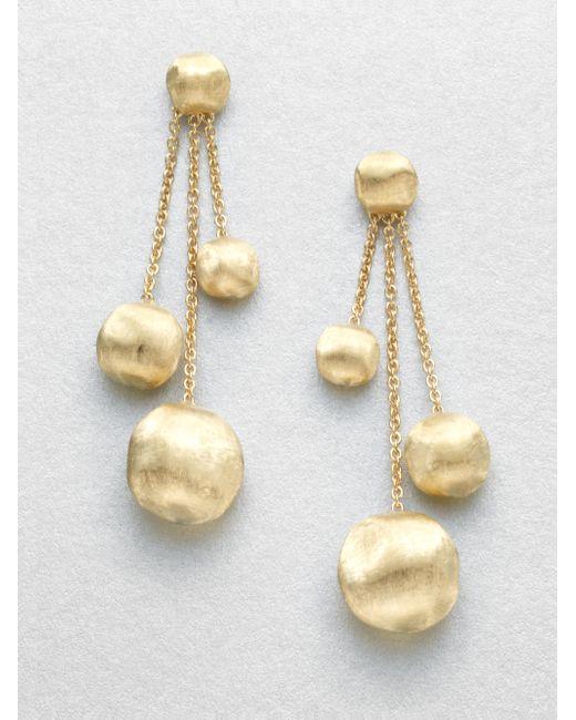 Marco Bicego | Metallic Africa 18k Yellow Gold Three-strand Ball Drop Earrings | Lyst