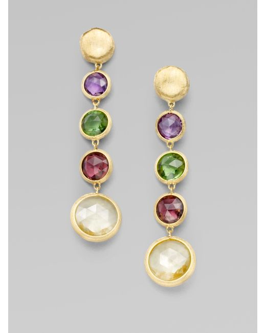 Marco Bicego | Metallic Jaipur Semi-precious Multi-stone & 18k Yellow Gold Drop Earrings | Lyst