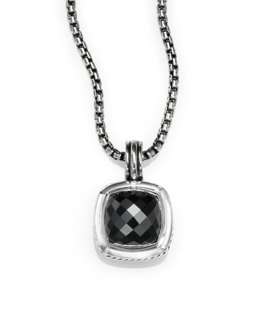 David Yurman | Albion® Pendant With Black Orchid And Diamonds, 11mm | Lyst