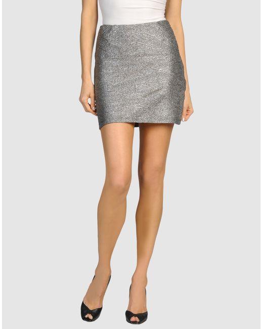 bec bridge mini skirt in silver save 85 lyst