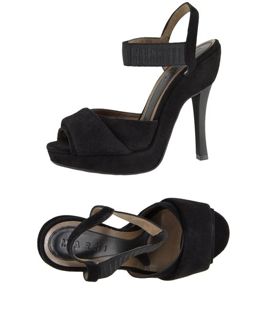 Marni   Black Platform Sandals   Lyst