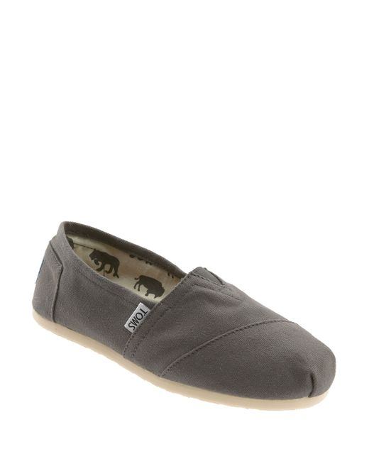 TOMS | Gray 'classic' Canvas Slip-on | Lyst