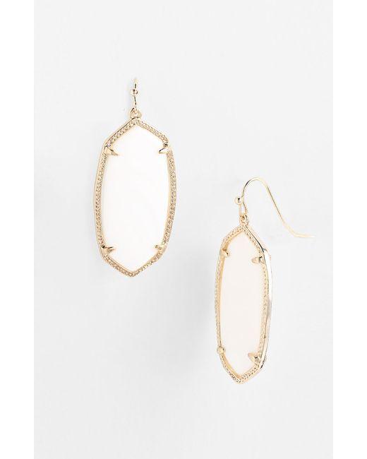 Kendra Scott | White 'elle' Drop Earrings | Lyst