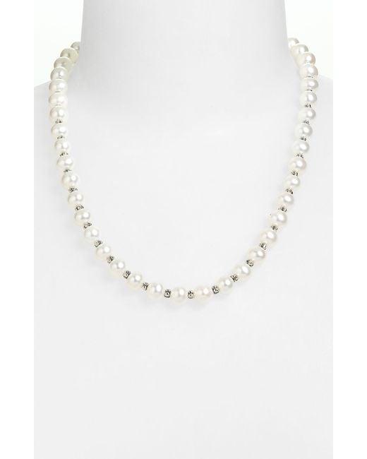 Lagos   Metallic 'luna Pearl' Strand Necklace   Lyst