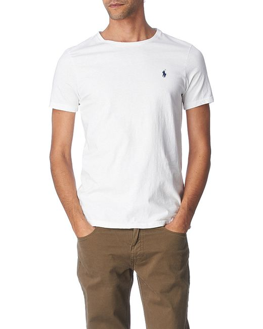 Polo Ralph Lauren | White Logo-embroidered Cotton-jersey T-shirt for Men | Lyst