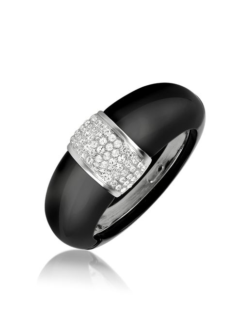 AZ Collection | Black Bangle Bracelet | Lyst