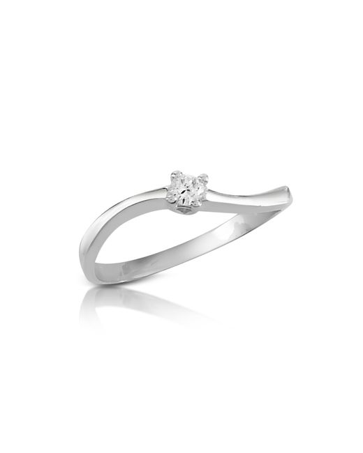 FORZIERI | Metallic 0.07 Ct Prong-set Diamond Solitaire Ring | Lyst