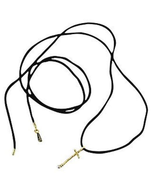 Orlando Orlandini   Metallic Capriccio - 18k Gold Cross Pendant W/ Diamond   Lyst
