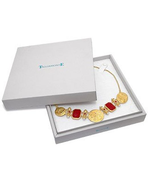Tagliamonte | Metallic Classics Collection - 18k Gold And Ruby Necklace | Lyst
