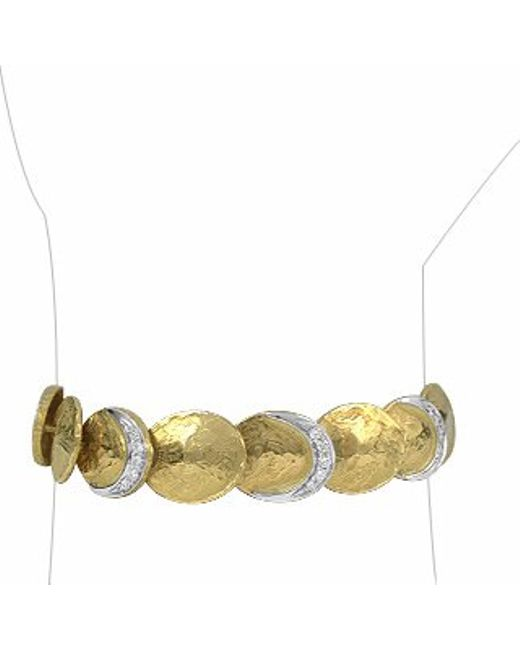 Torrini | Metallic Lenticchie - 18k Gold And Diamond Bracelet | Lyst