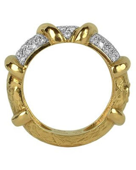 Torrini | Twister - 18k Yellow Gold Diamond Ring | Lyst