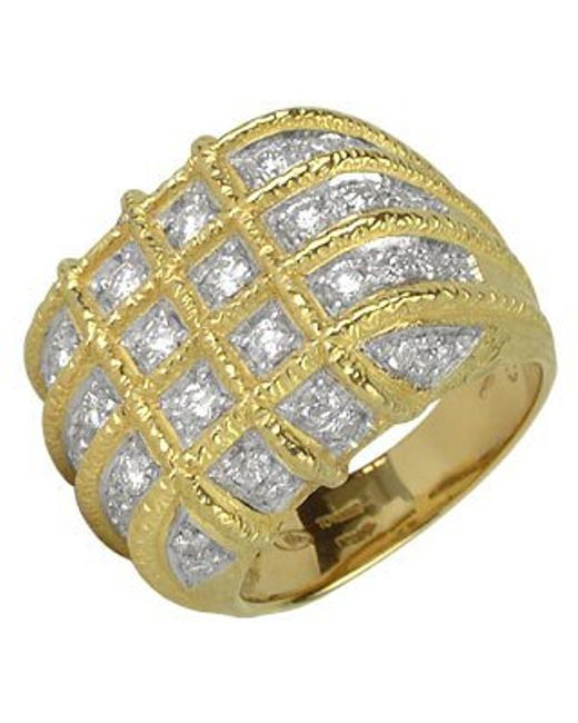 Torrini | Wallstreet - 18k Yellow Gold Diamond Ring | Lyst