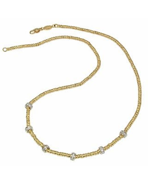 Torrini | Rondelle Moving Mini - 18k Yellow Gold And Diamond Necklace | Lyst