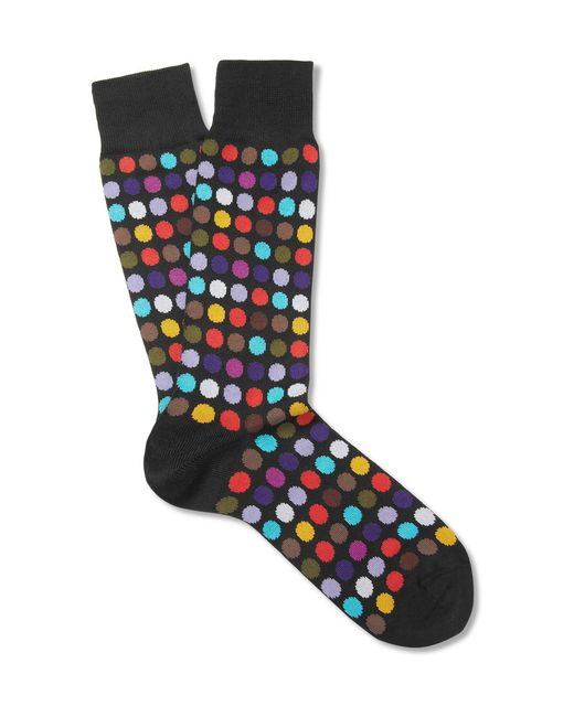 Paul Smith | Black Socks In Spot Print for Men | Lyst