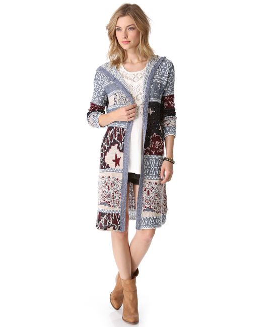 Free People | Multicolor Bandana Cardigan | Lyst