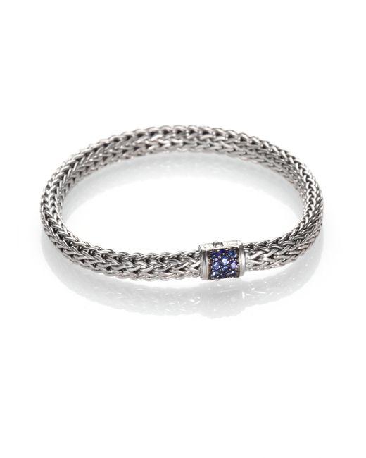 John Hardy | Metallic Classic Chain Sapphire & Sterling Silver Small Bracelet | Lyst
