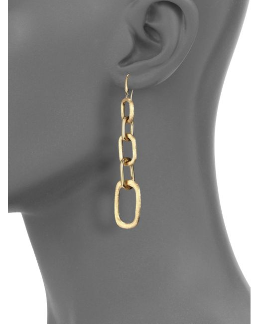 Marco Bicego | Metallic Murano 18k Yellow Gold Graduated Link Drop Earrings | Lyst