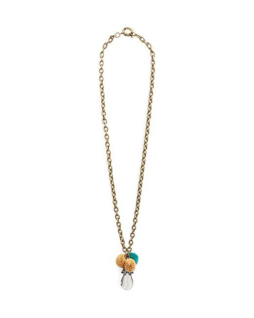 Tory Burch | Gold Geometric Pendant Necklace | Lyst