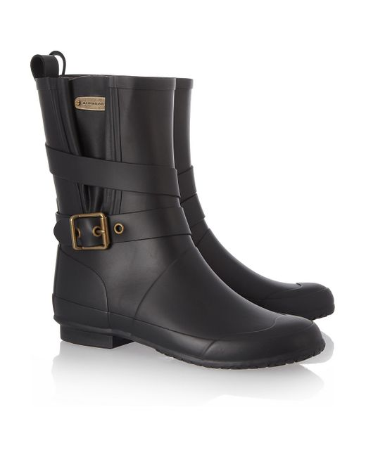 Burberry | Blue Leather Bactonul Boots | Lyst