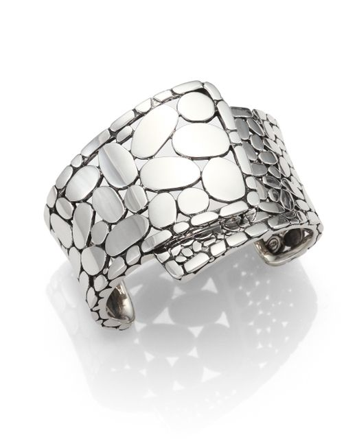 John Hardy | Metallic Sterling Silver Wide Cuff Bracelet | Lyst