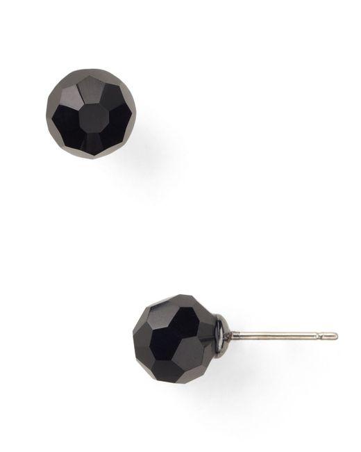Carolee | Black Faceted Beaded Stud Earrings | Lyst