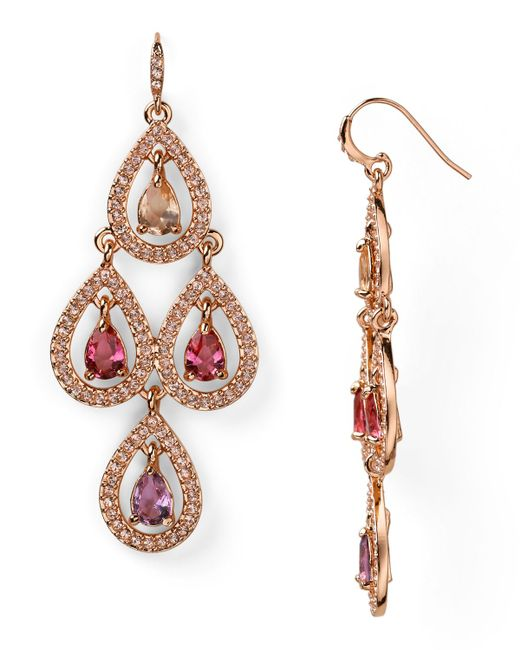 Carolee   Metallic Chandelier Earrings   Lyst