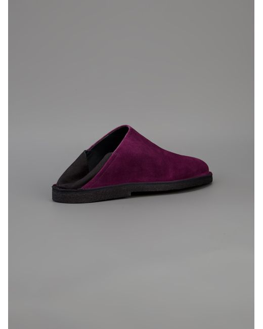 demeulemeester slip on shoe in purple for save