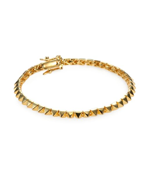 Eddie Borgo | Metallic Pyramid Gold-plated Bracelet | Lyst