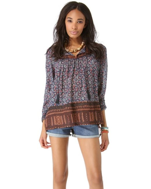 Free People | Black Dream Lover Tunic | Lyst
