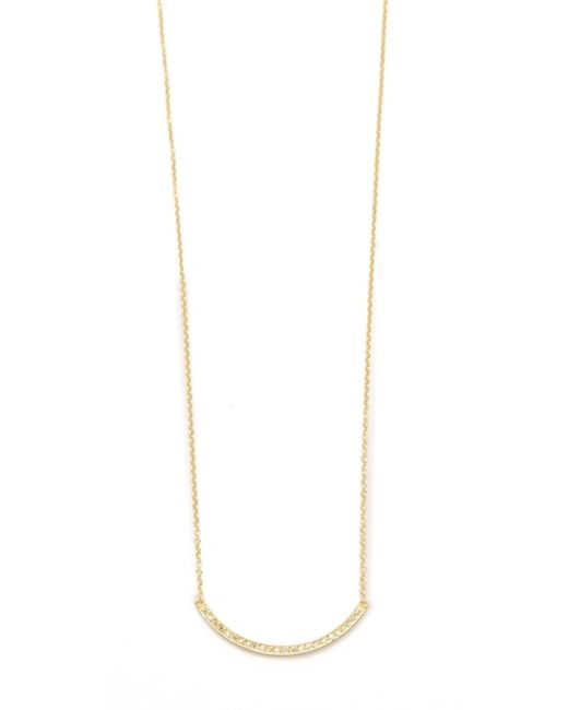 Jennifer Meyer | Metallic Diamond Stick Necklace | Lyst