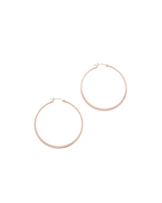 Jennifer Zeuner | Pink Small Hoop Earrings | Lyst