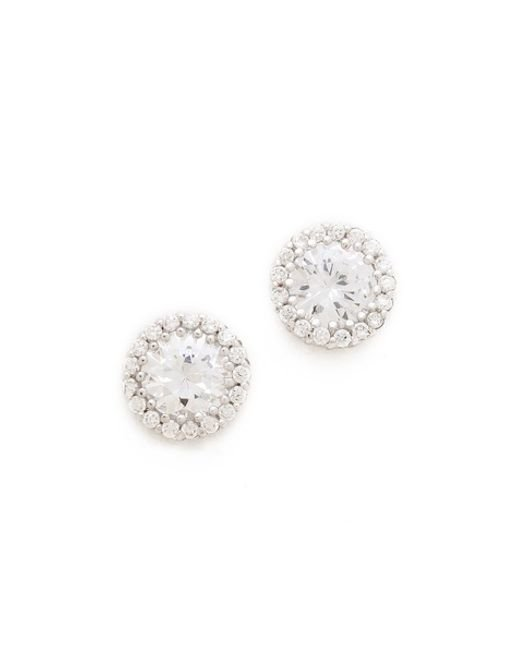 Kenneth Jay Lane | Metallic Round Pave Stud Earrings | Lyst