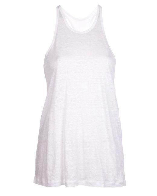 T By Alexander Wang | Blue Wrap Back Sleeveless Shirt | Lyst