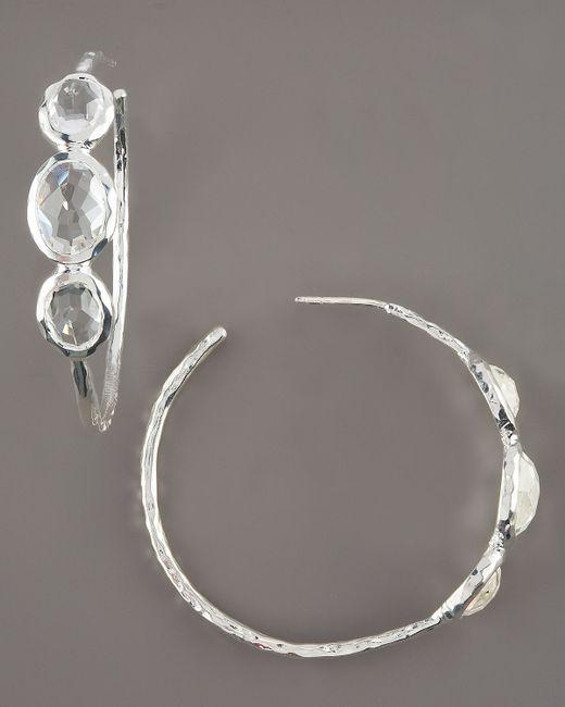 Ippolita | Metallic Clear Quartz Hoop Earrings | Lyst