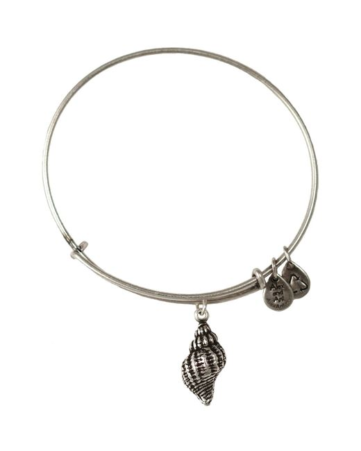 ALEX AND ANI | Metallic Conch Shell Bangle | Lyst