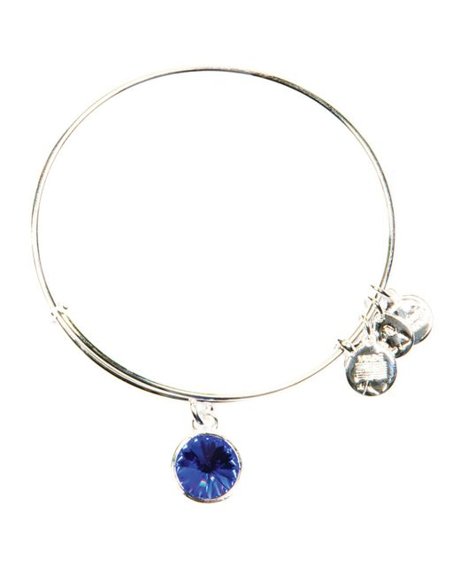 ALEX AND ANI | Metallic September Birthstone Bangle | Lyst