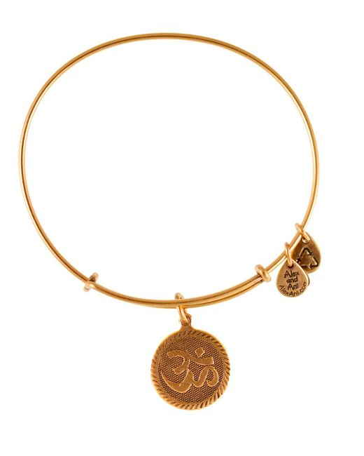 ALEX AND ANI | Metallic Om Bangle | Lyst