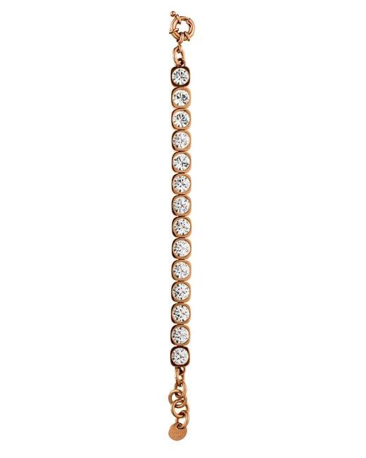 Dyrberg/Kern | Pink Conian Rose Gold Crystal Bracelet | Lyst