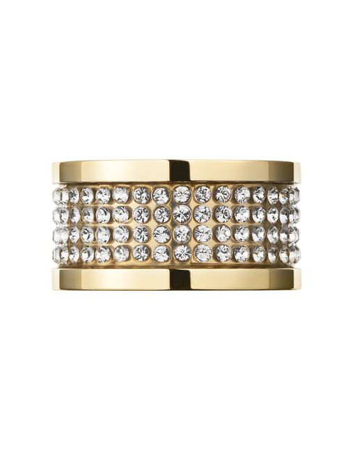 Dyrberg/Kern | Metallic Emily Gold Crystal Ring | Lyst