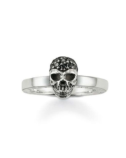 Thomas Sabo | Metallic Rebel At Heart Black Skull Ring | Lyst