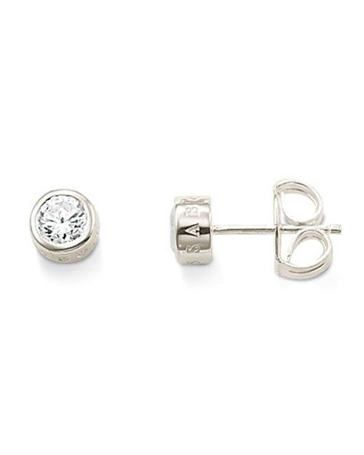 Thomas Sabo | Metallic Classic Medium White Zirconia Ear Studs | Lyst