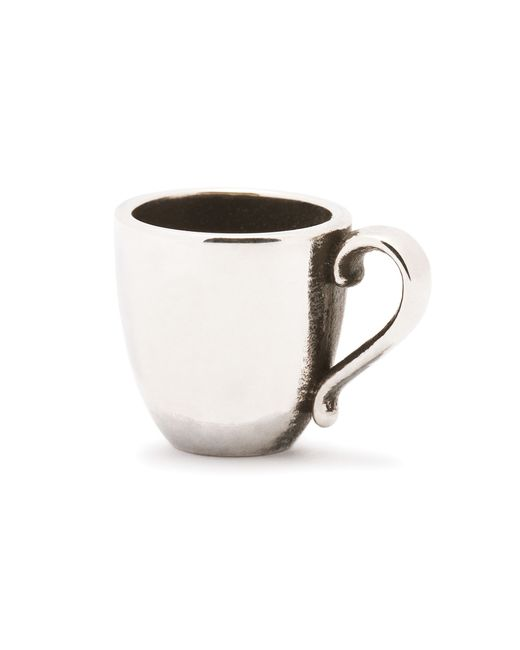 Trollbeads | Metallic Coffee Mug Silver Charm Bead | Lyst